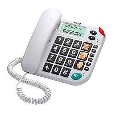MAXCOM TELÉFONO KXT480 BLANCO