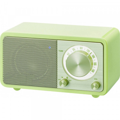 SANGEAN WR-7 GREEN WOODEN...