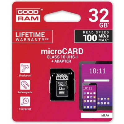 GOODRAM MICRO SD 32GB CLASS...