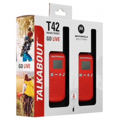 MOTOROLA WALKIE T42 RED