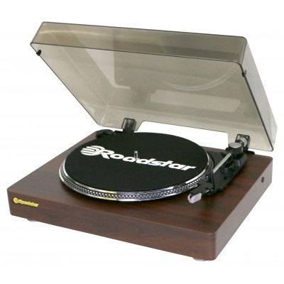 ROADSTAR WOODEN TURNTABLE